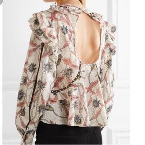 Isabel Marant Uster Floral Ruffle Blouse